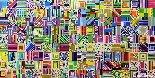 Arancha-Goyeneche-Sticked-Painting-I