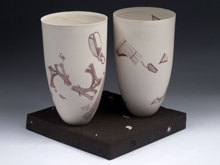 "Obra de l'artista Karen Gunderman a l'exposició ""American Clay"". © Karen Gunderman"